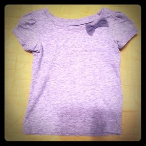 Grey tee with bow embellishment